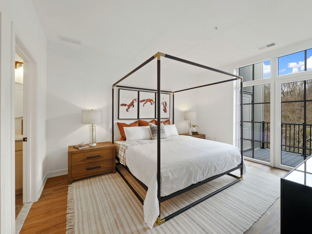 The Falls master bedroom