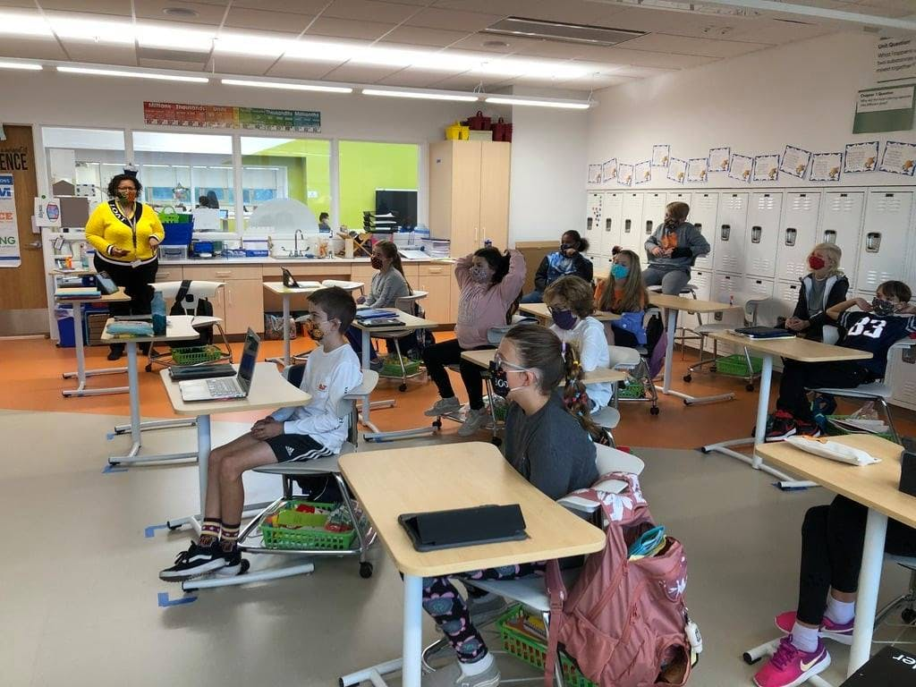 Cape Henlopen School District students in class in November.