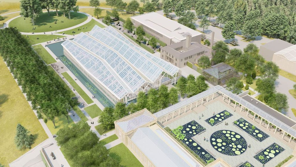 An aerial view of the project. (Longwood Gardens)
