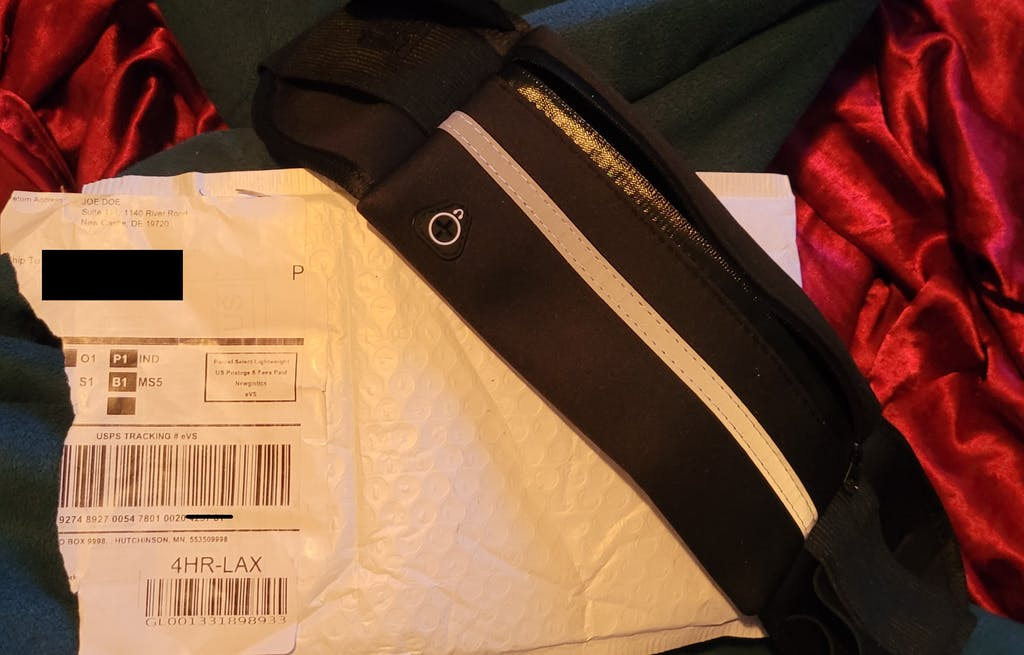 """A suspicious consumer alerted the Better Business Bureau Serving Delaware to this unsolicited package from """"Joe Doe"""" in """"Delaware."""" (Better Business Bureau Serving Delaware photo)"""