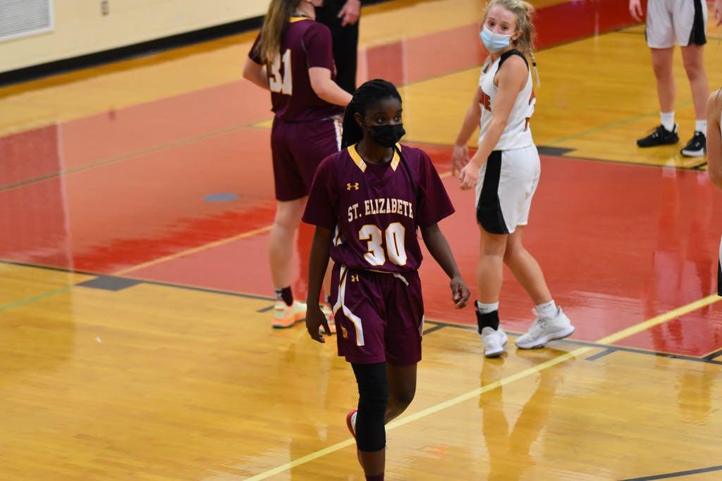 Olivia Lynch St Elizabeths Basketball scored 13pts