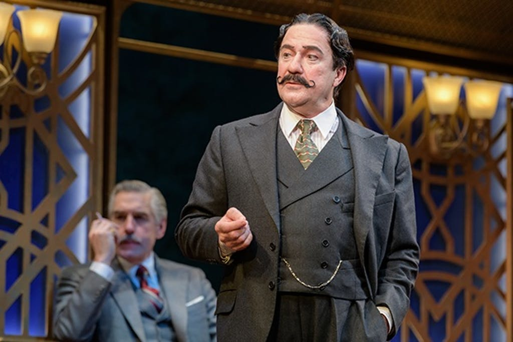 """Lee E. Ernst as Hercule Poirot in """"Murder on the Orient Express."""" (UD REP photo)"""