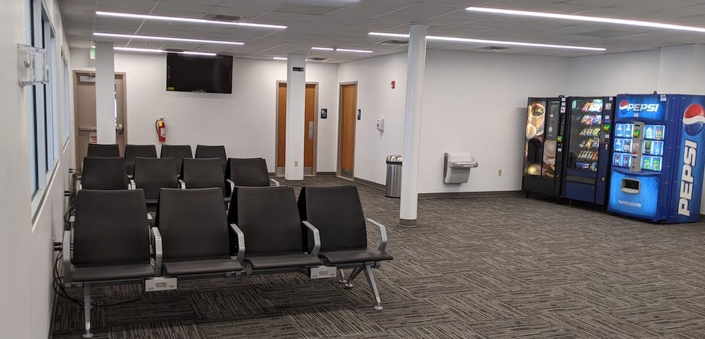 Wilmington-New Castle Airport waiting area. (Delaware River & Bay Authority photo)