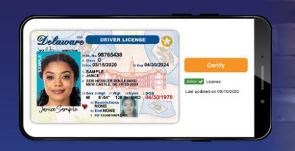 A new DMV program allows people to put driver's licenses on their telephones.