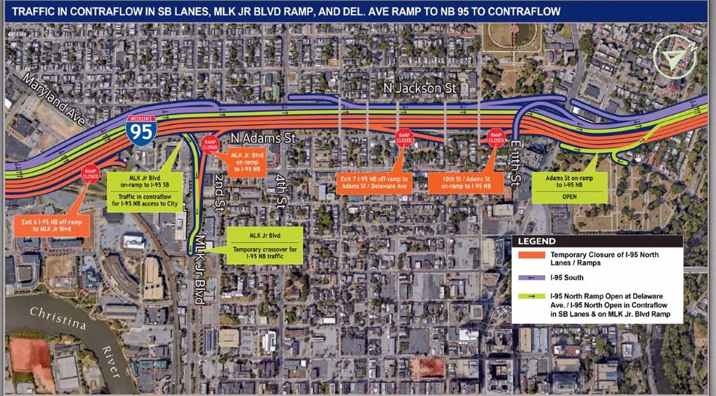 Details of the changes in the initial stage of Restore the Corridor. (DelDOT)