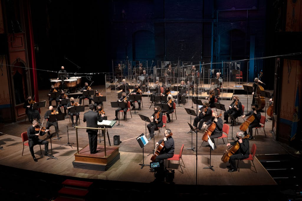 Delaware Symphony Orchestra practices