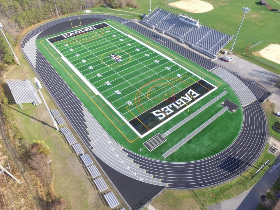Sussex Tech's track (Sussex County Vocational Technical School District)