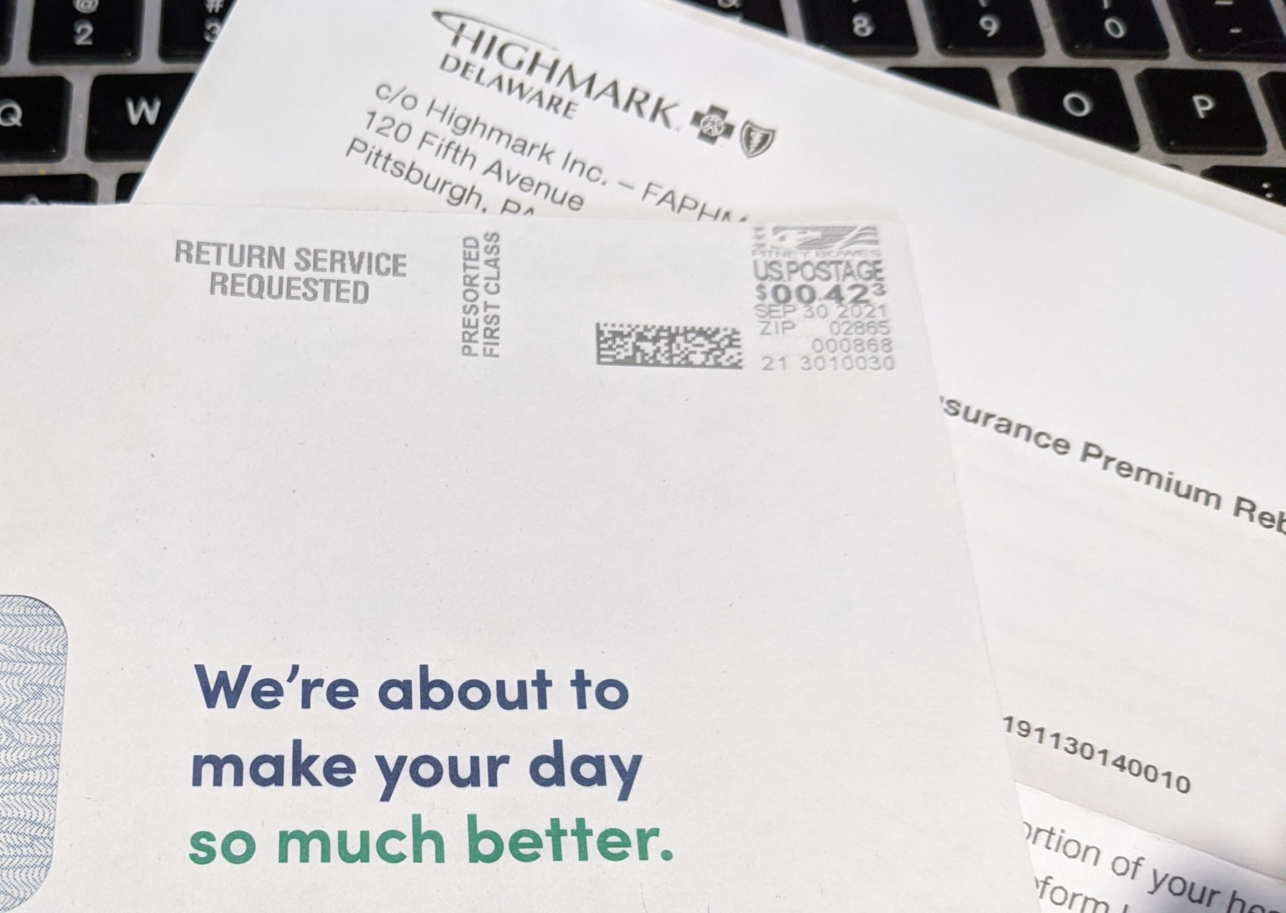 """Featured image for """"Highmark rebates 5.1% of health insurance premiums"""""""